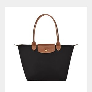 NWT Longchamp Planck pliage shopper long  strap